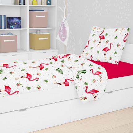 Παπλωμα Μονό Dimcol 160Χ240 Flamingo 292 Rotary Print
