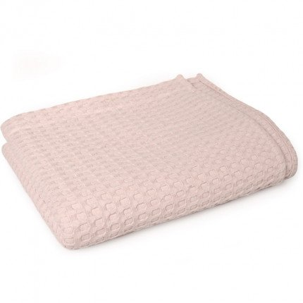 Κουβέρτα Πικέ Μονή 165X255 Dimcol Μονόχρωμη Ροζ