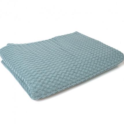 Κουβέρτα Πικέ Υπέρδιπλη 225X255 Dimcol Μονόχρωμη Πετρολ Πετρόλ
