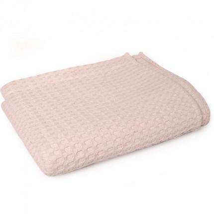 Κουβέρτα Πικέ King Size 245X255 Dimcol Μονόχρωμη Ροζ
