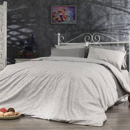 Σεντόνια Μονά (Σετ) 160X240 Dimcol Αρετή 271 Grey Χωρίς Λάστιχο