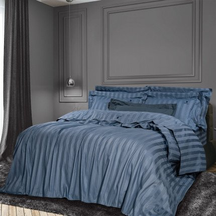 Σεντόνια Υπέρδιπλα (Σετ) 240x270 Greenwich Polo Club Essential 2073 Μπλε Χωρίς Λάστιχο