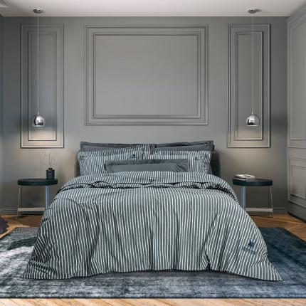 Παπλωματοθήκη Υπέρδιπλη (Σετ) 220x240 Greenwich Polo Club Essential 2064 Μπλε