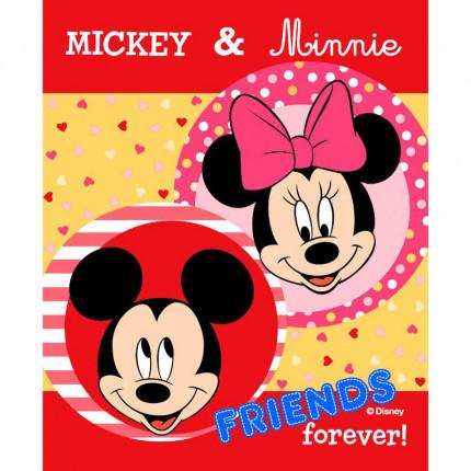 Κουβέρτα Βελουτέ Κούνιας 90X120 Disney Dimcol Mickey-Minnie For Ever Digital Print