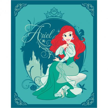 Κουβέρτα Fleece Κούνιας 120X150 Disney Dimcol Ariel 05