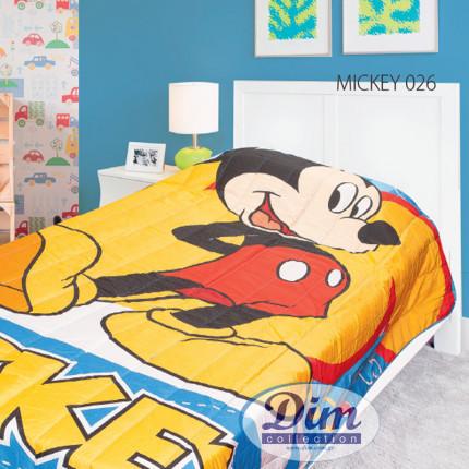 Κουβερλί Μονό 160X250 Dimcol Disney Mickey 26 Μπλε