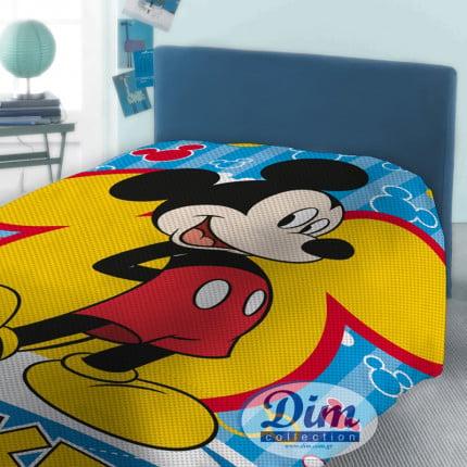 Κουβέρτα Πικέ Μονή 160X240 Disney Dimcol Mickey 565