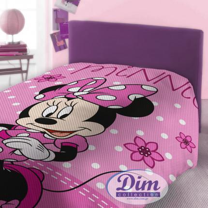 Κουβέρτα Πικέ Μονή 160X240 Disney Dimcol Minnie 555