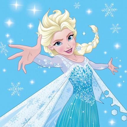 Λαβέτα 30X30 Dimcol Disney Frozen 03 Σιελ