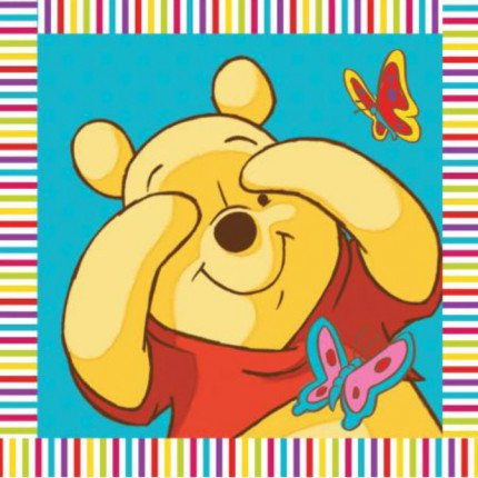 Λαβέτα 30X30 Dimcol Disney Winnie 01 Ακουα