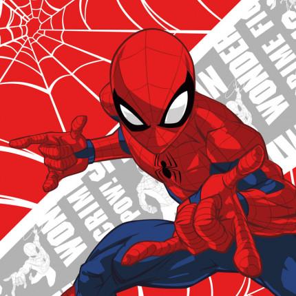 Λαβέτα 30X30 Dimcol Disney Spiderman 01 Red