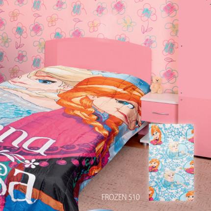 Πάπλωμα Μονό 160X250 Dimcol Disney Frozen 510 Σιελ