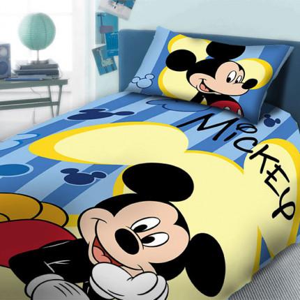 Παπλωματοθήκη Μονή (Σετ) 160X240 Dimcol Disney Mickey 960 Μπλε