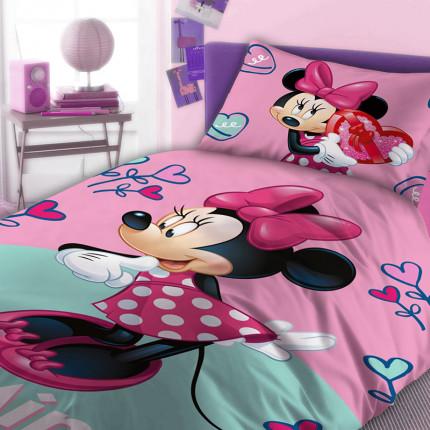 Παπλωματοθήκη Μονή (Σετ) 160X240 Disney Dimcol Minnie 750
