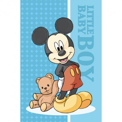 Λαβέτα Προσώπου 40X60 Dimcol Disney Mickey 01 Μπλε