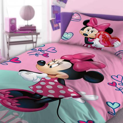 Σεντόνια Μονά (Σετ) 160X240 Disney Dimcol Minnie 753 Χωρίς Λάστιχο