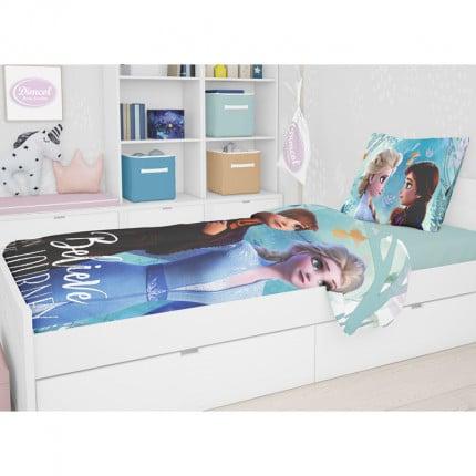Σεντόνι Μονό (Σετ 2 Τμχ) 165X245 Disney Dimcol Frozen 982 Μωβ Χωρίς Λάστιχο