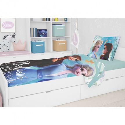 Σεντόνια Μονά (Σετ) 165X245 Disney Dimcol Frozen 984 Μωβ Χωρίς Λάστιχο