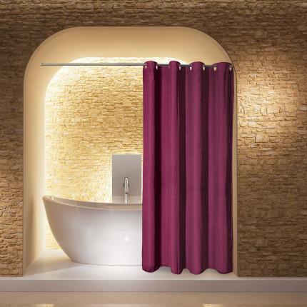 Κουρτίνα Μπάνιου 180X200 Greenwich Polo Club Bath Curtains 2583 Μπορντώ