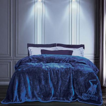 Κουβέρτα Βελουτέ Υπέρδιπλη 220X240 Greenwich Polo Club Essential 2455