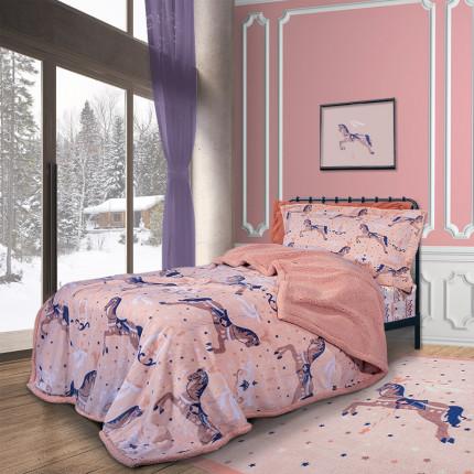 Κουβέρτα Fleece Μονή 160x220 Greenwich Polo Club Essential 2923 Ροζ-Μωβ