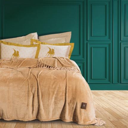 Κουβέρτα Fleece Υπέρδιπλη 220x240 Greenwich Polo Club Essential 2429 Χρυσο