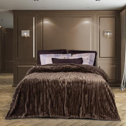 Κουβέρτα Fleece Υπέρδιπλη 220x240 Greenwich Polo Club Essential 2442 Καφε