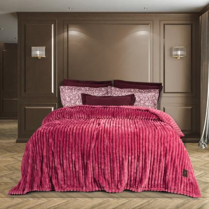 Κουβέρτα Fleece Υπέρδιπλη 220x240 Greenwich Polo Club Essential 2444 Κοκκινο
