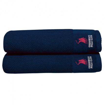 Πετσέτες Προσώπου (Σετ 2 Τμχ) 50X90 Greenwich Polo Club Essential 2539 Μπλε