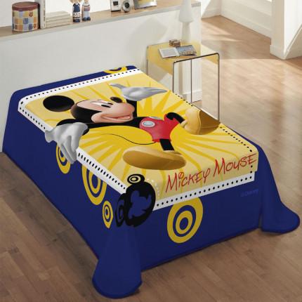 Κουβέρτα Βελουτέ Μονή 160X220 Dimcol Disney Mickey 563 Μπλε