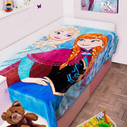Κουβέρτα Βελουτέ Μονή 160X220 Dimcol Disney Frozen 501 Σιελ