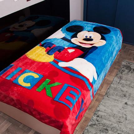 Κουβέρτα Βελουτέ Μονή 160X220 Dimcol Disney Mickey 561 Μπλε