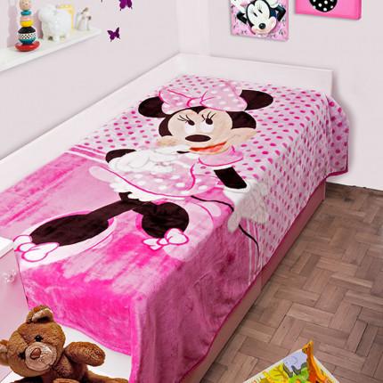 Κουβέρτα Βελουτέ Μονή 160X220 Dimcol Disney Minnie 551 Ροζ