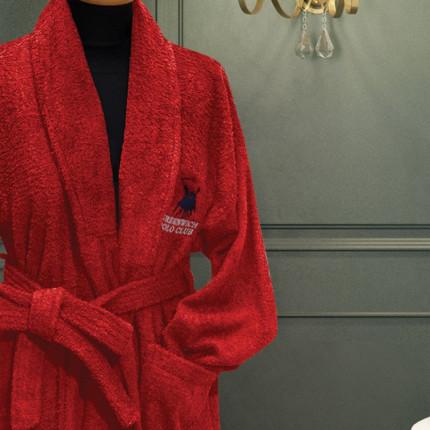 Μπουρνούζι Με Γιακά Greenwich Polo Club Essential 2602 Κοκκινο