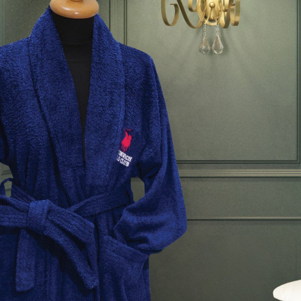 Μπουρνούζι Με Γιακά Greenwich Polo Club Essential 2605 Μπλε Σκουρο