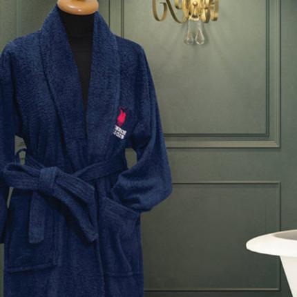 Μπουρνούζι Με Γιακά Greenwich Polo Club Essential 2607 Μπλε