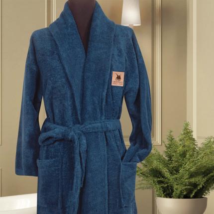 Μπουρνούζι Με Γιακά Greenwich Polo Club Essential 2616 Μπλε