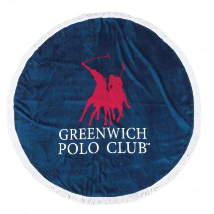 Πετσέτα Θαλάσσης Φ160 Greenwich Polo Club Essential 2824 Κοκκινο-Μπλε