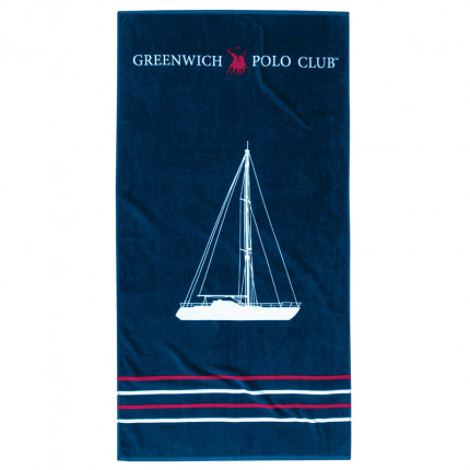 Πετσέτα Θαλάσσης 80X160 Greenwich Polo Club Essential 3514 Μπλε