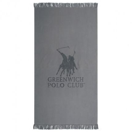 Πετσέτα Θαλάσσης 80X170 Greenwich Polo Club Essential 3528 Γκρι