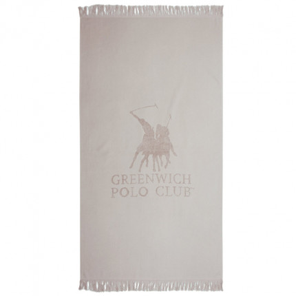 Πετσέτα Θαλάσσης 80X170 Greenwich Polo Club Essential 3529 Γκρι