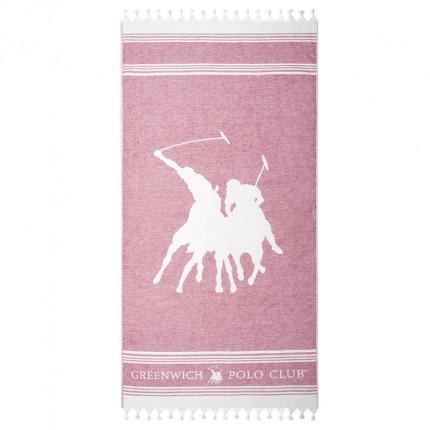 Πετσέτα Θαλάσσης 80X180 Greenwich Polo Club Essential 3525 Ροζ