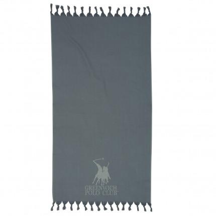 Πετσέτα Θαλάσσης 90x170 Greenwich Polo Club Essential 2816 Γκρι