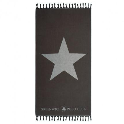 Πετσέτα Θαλάσσης 90X170 Greenwich Polo Club Essential 2889 Μαύρο