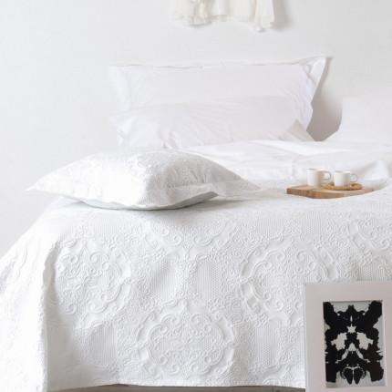 Κουβέρτα Πικέ Υπέρδιπλη 230X260 Kentia Serenity Roxane 00 Ιβουάρ
