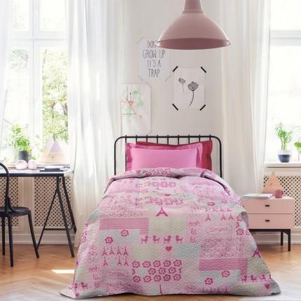 Κουβερλί Μονό 160X240 Das Home Kid 4685 Ροζ