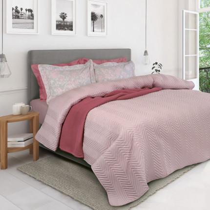Κουβερλί Μονό 160X240 Das Home Happy 9479 Ροζ
