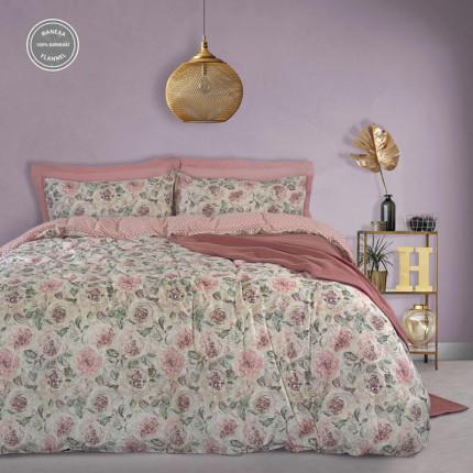 Παπλωματοθήκη Φανελένια Μονή (Σετ) 160X240 Das Home Happy Flannel 9490