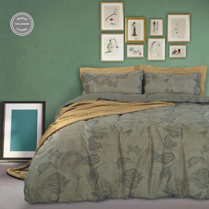 Παπλωματοθήκη Φανελένια Μονή (Σετ) 160X240 Das Home Happy Flannel 9491