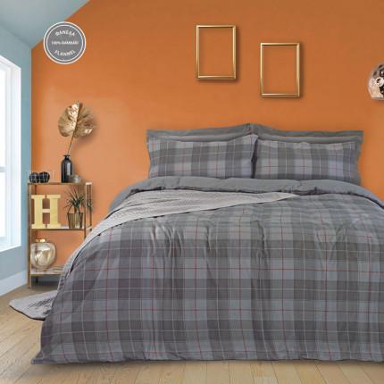 Παπλωματοθήκη Φανελένια Μονή (Σετ) 160X240 Das Home Happy Flannel 9492